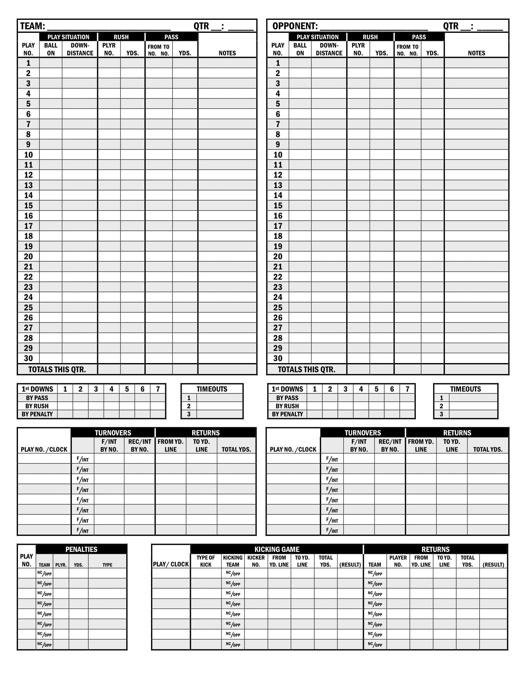 Football Stats Forms