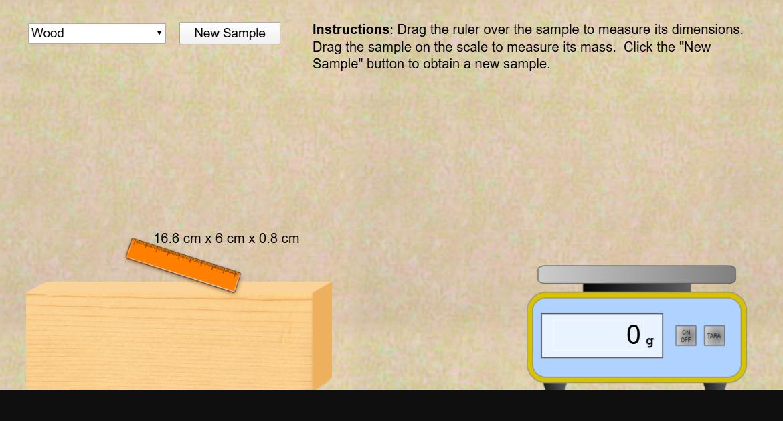 Density Lab Simulation