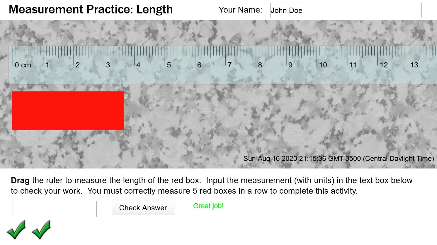 Interactive Measurement Practice